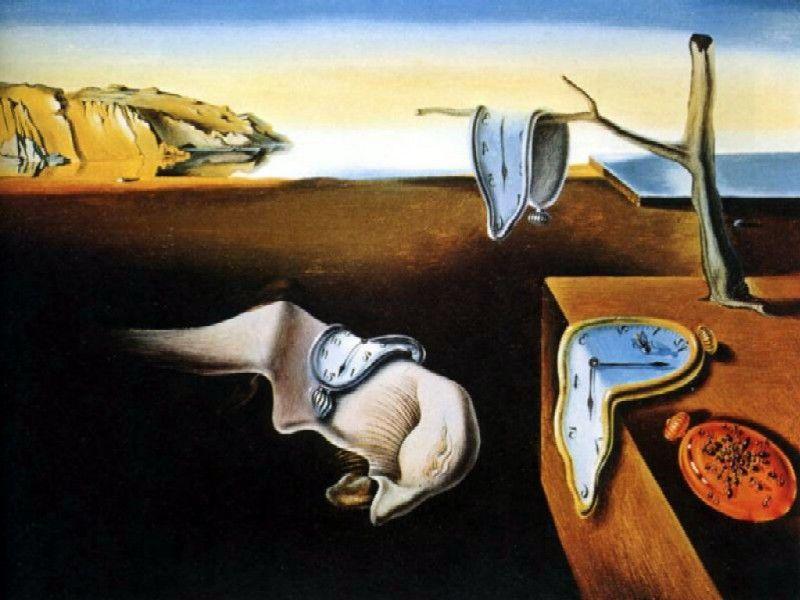 Cuadro de los relojes derretidos de Dalí