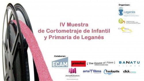 Cartel de la IV Muestra de Cortometraje Infantil y Juvenil de Leganés