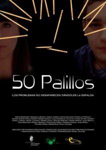 cartel presentación taller cortometraje 50 palillos