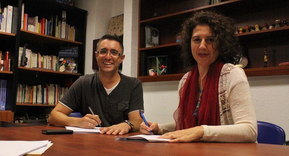La Directora Gerente de FYME, Anabel Domínguez y el Presidente de CIneduca, Héctor García