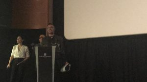 Nuestro Presidente, Héctor García, en un momento de su intervención durante la entrega de premios